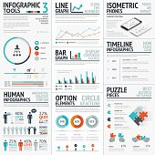 Stunning infographic elements vector set for your projects to impact
