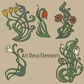 style labels on different topics for decoration and design