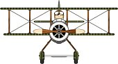 WW1 Style Military Biplane & Pilot