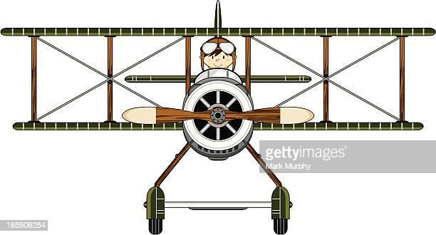 Première guerre mondiale Style militaire Biplan & pilote