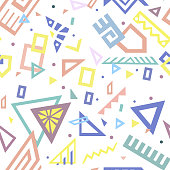Style Vector Seamless Pattern