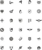WW2 styled military emblem set