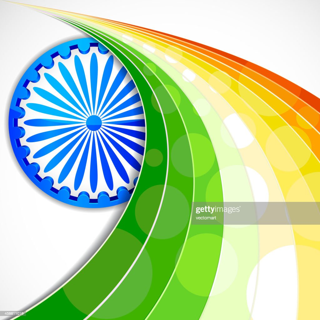 Stylised background featuring Indian flag elements