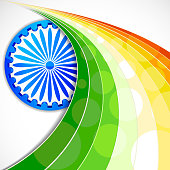 Stylised background featuring Indian flag elements
