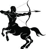 Stylised centaur archer illustration