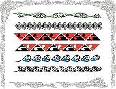 Stylised Maori Koru Borders