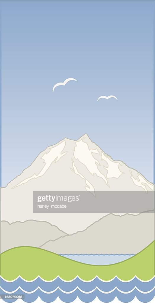 Stylised Mountain