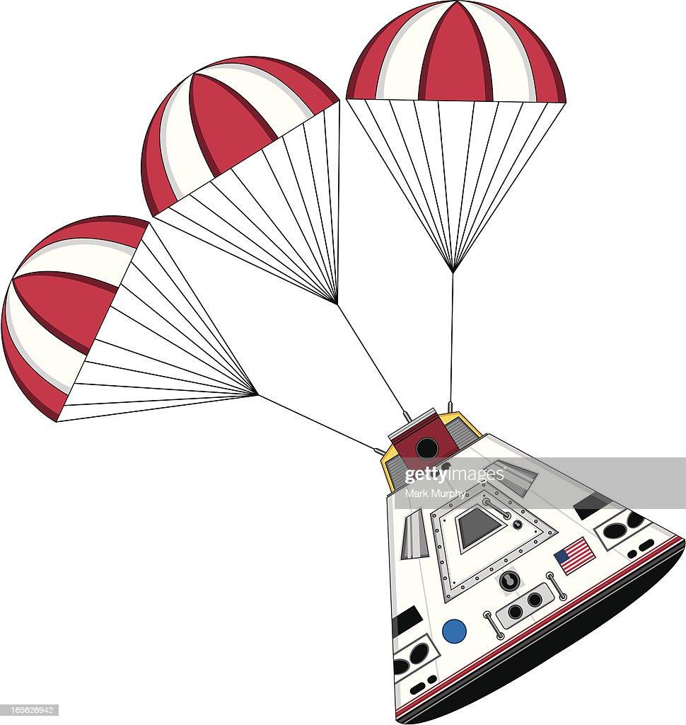 Stylised Space Capsule Landing