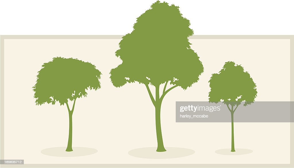 Stylised Trees in Silhouette