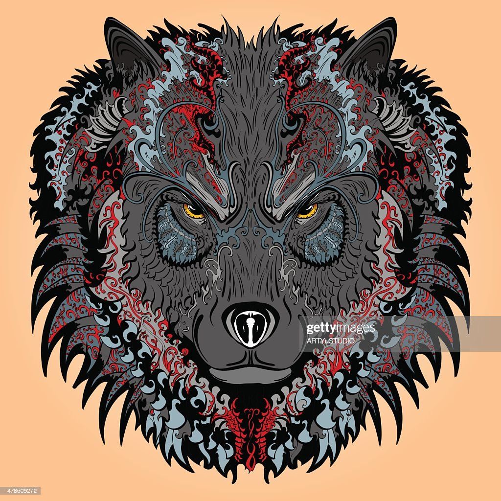 Stylised wolf
