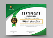 stylish certificate of appreciation award design template with geometric shapes - Vector