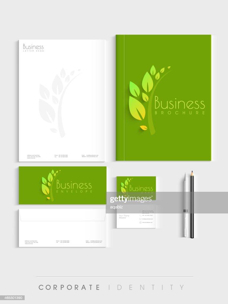 Stylish corporate identity kit for ecology.
