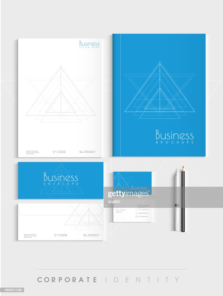 Stylish corporate identity kit.