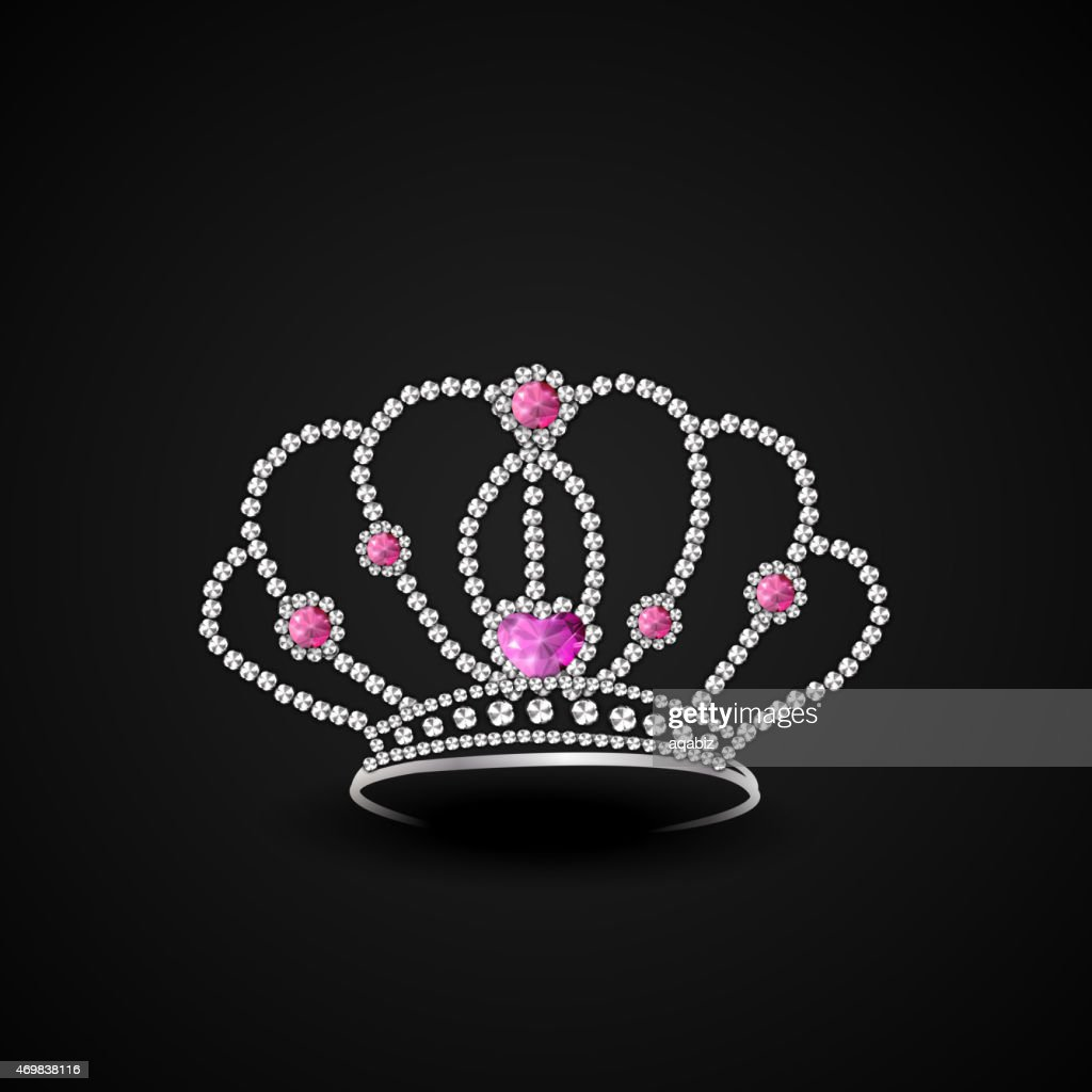 Stylish diamond crown.