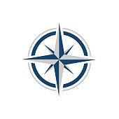 stylish flat Creative Compass Logo vector Concept Design Template