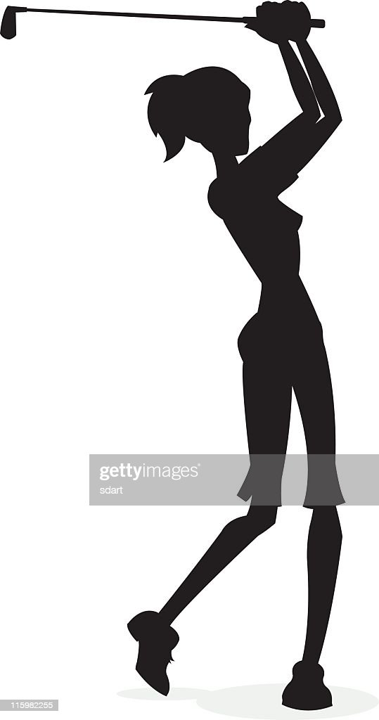 Stylish Golfing Silhouette Vector Art Getty Images