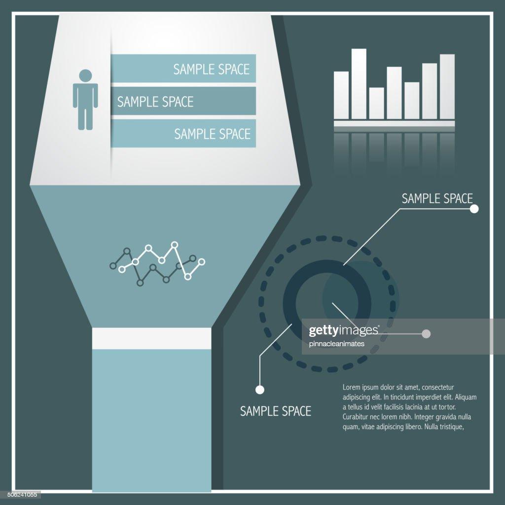 stylish infographic illustration