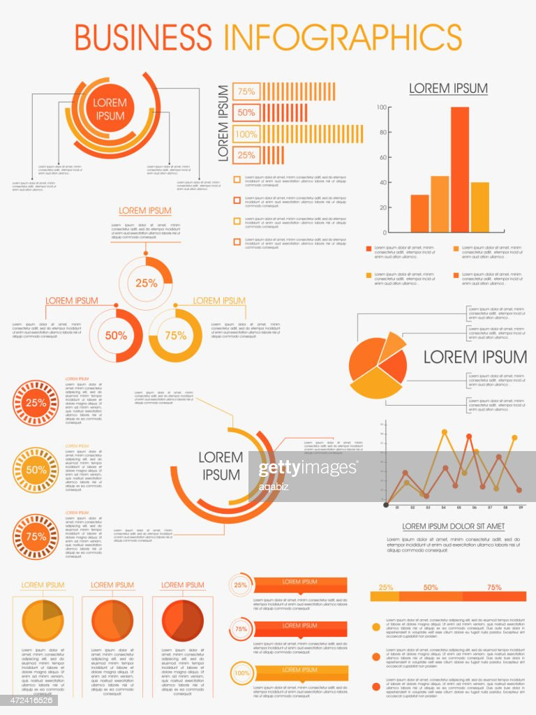 Stylish infographics template for business.