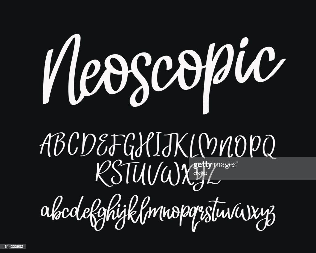 Stylish modern vector font