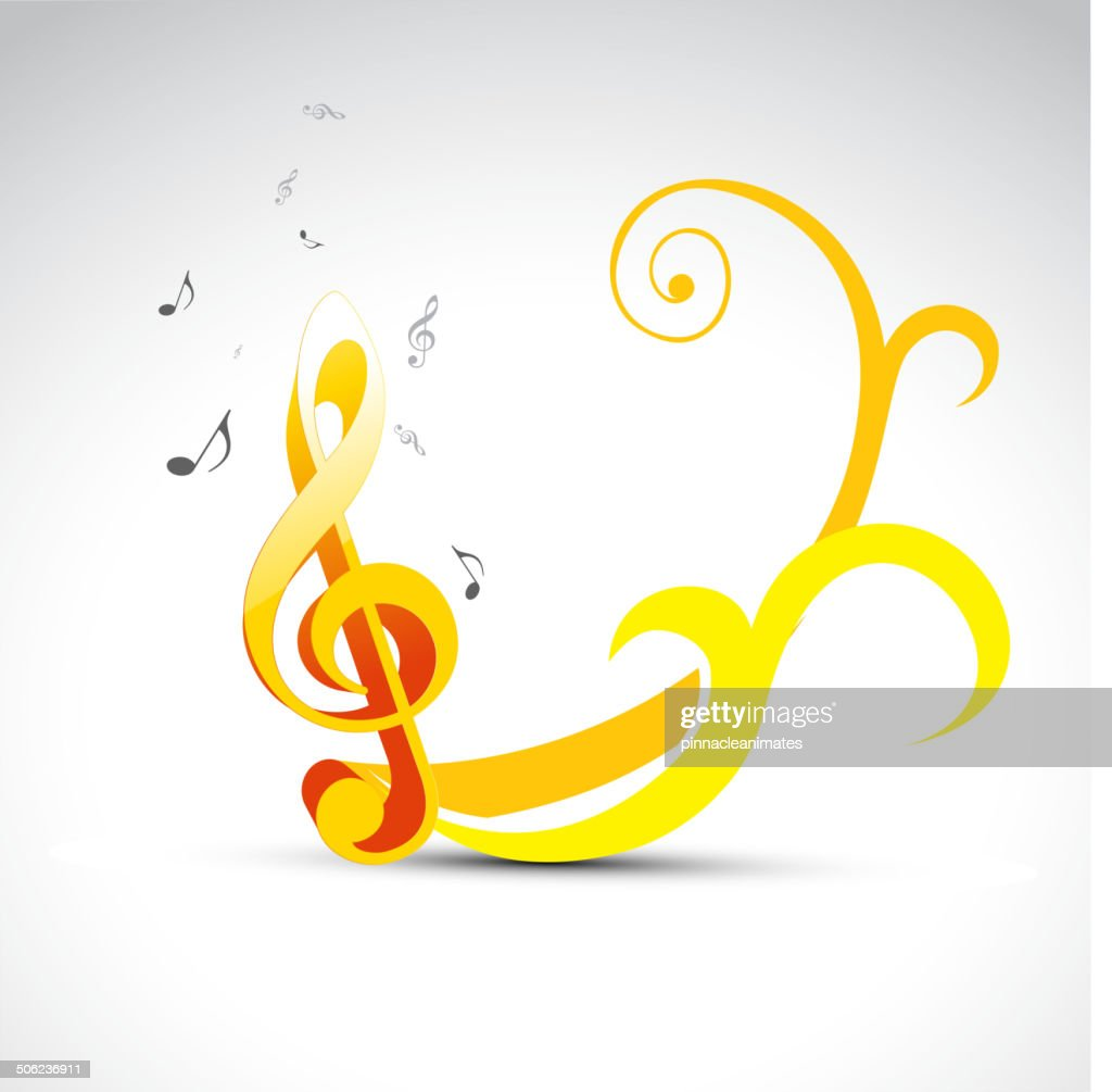 Stylish Music Note Vector Art | Getty Images