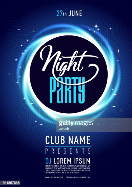 stylish night cub poster/flyer on colorful scalable backgrounds. - flyer leaflet stock illustrations
