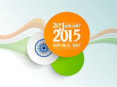 Stylish stickers design for Indian Republic Day celebrations.