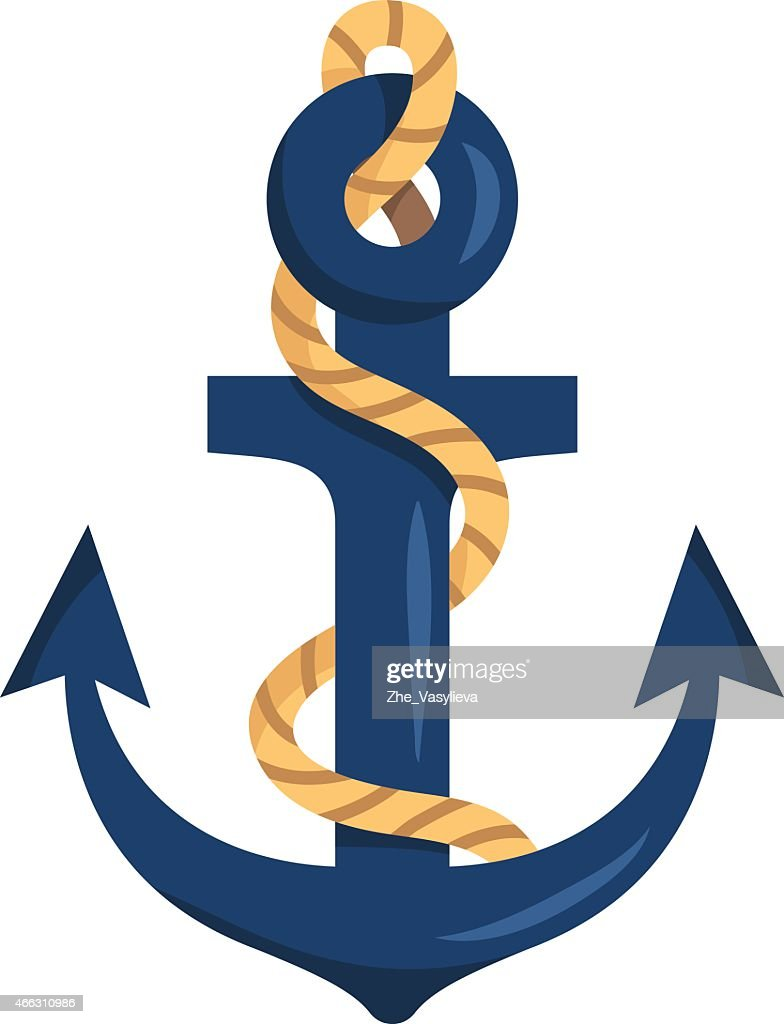 Stylized anchor isolated on white