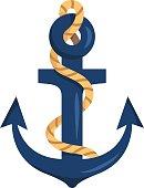 Stylized anchor isolated on white