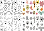 stylized animals vector