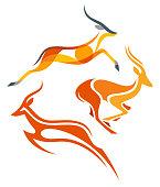 Stylized Antelopes