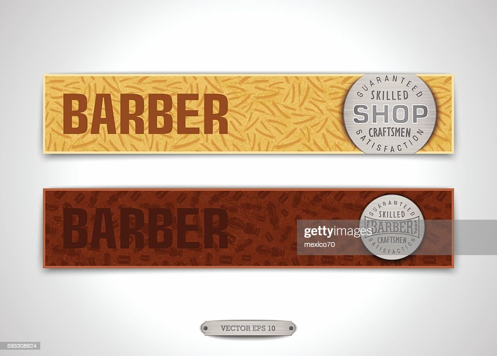 Stylized banners for Barbershop