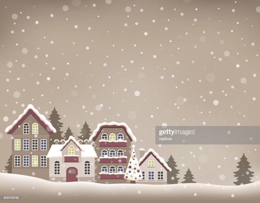 Stylized Christmas village theme image 1