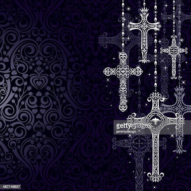 図案化されたクロス - キリストの十字架点のイラスト素材/クリップアート素材/マンガ素材/アイコン素材