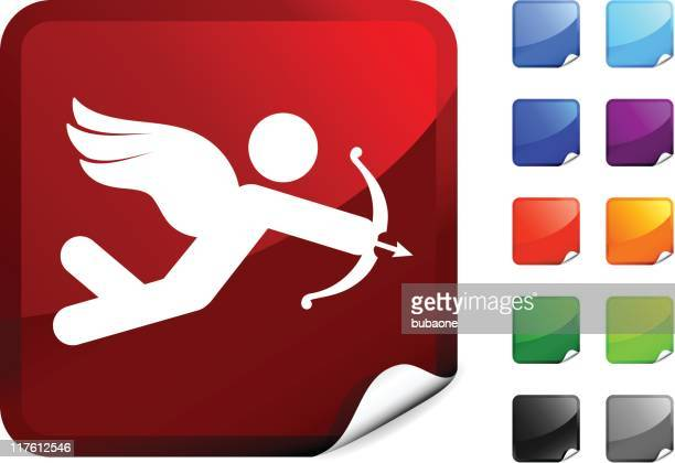 stylized cupid internet royalty free vector art - animal limb stock illustrations, clip art, cartoons, & icons