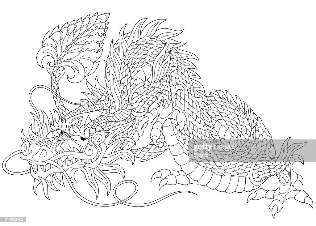 Stylized dragon animal