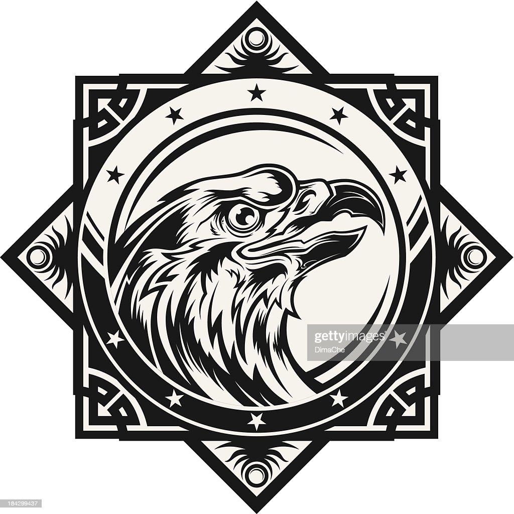 Stylized eagle head