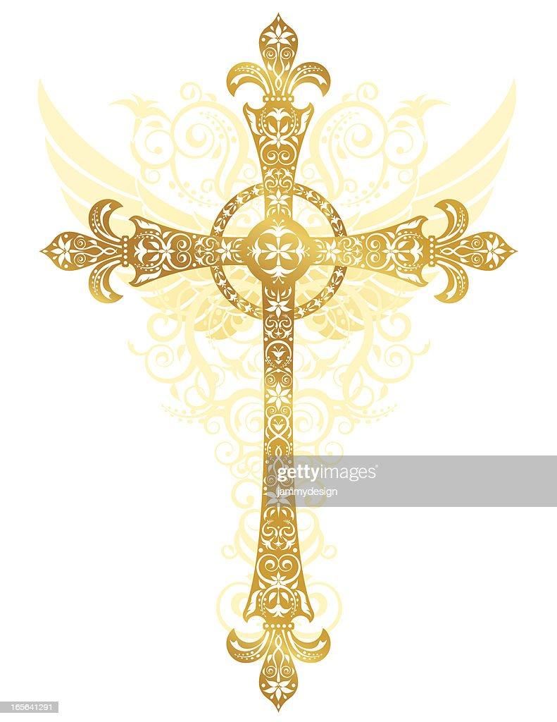 Stylized Gold Cross