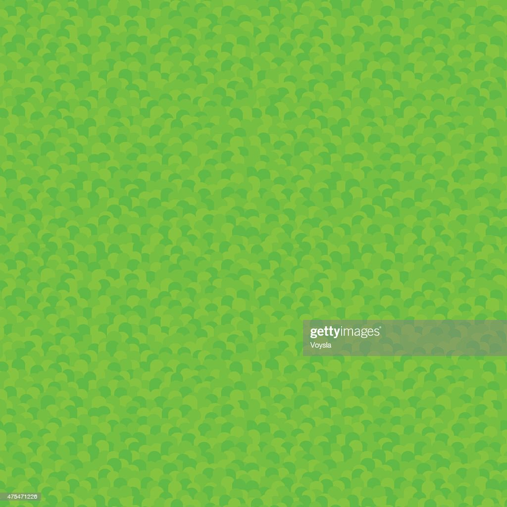Stylized Green Grass Seamless Pattern