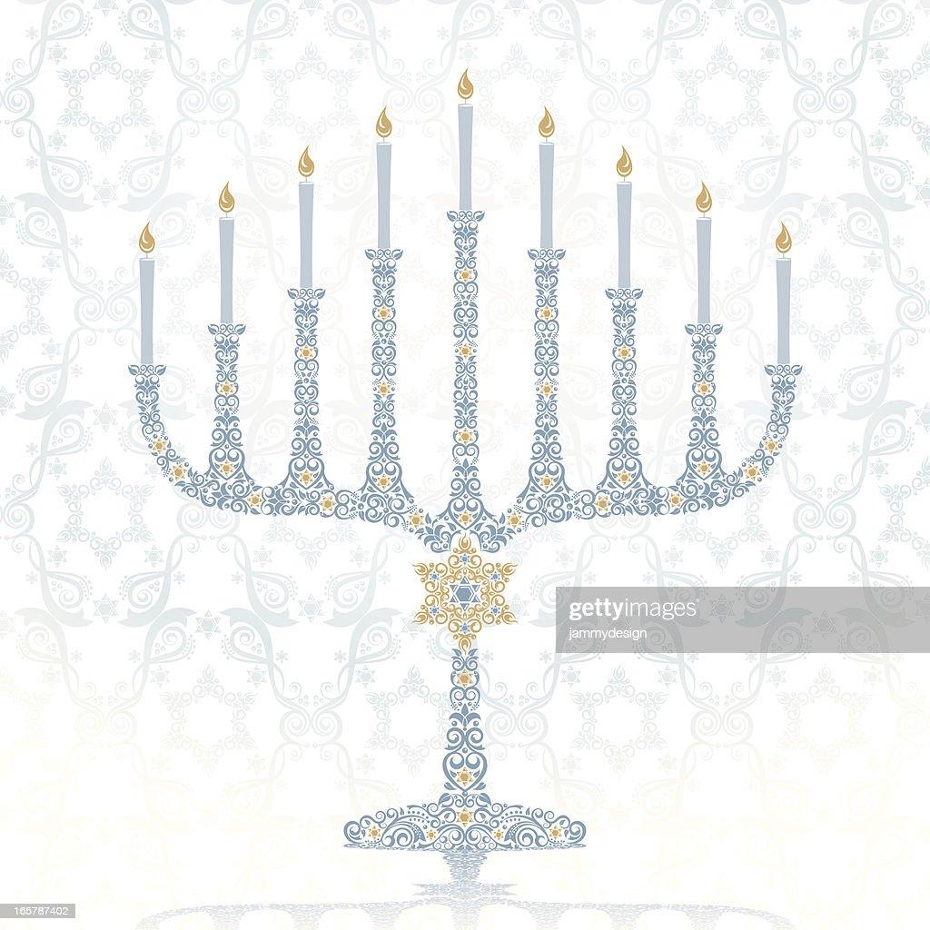 Stylized Hanukkah Menorah : stock illustration