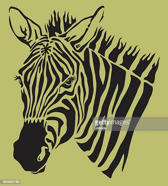 Stylized Head Zebra