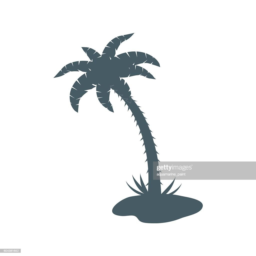 Stylized icon of palm tree