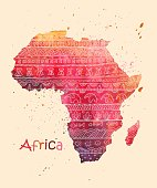 A stylized image of Africa map