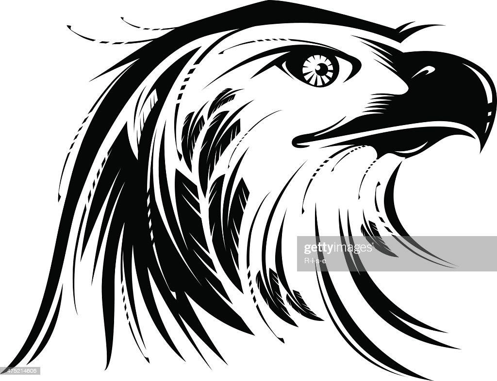 Stylized image of Eagle or Phoenix head