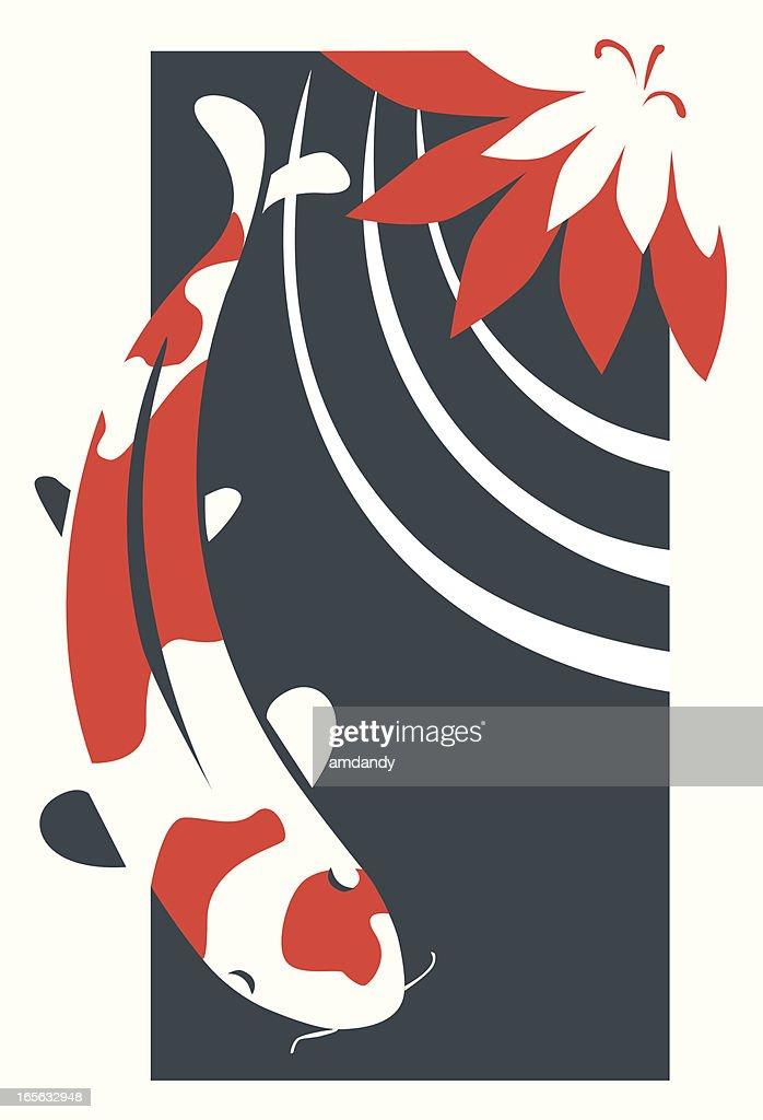 stylized Koi Illustration
