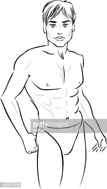 Stylized male figure