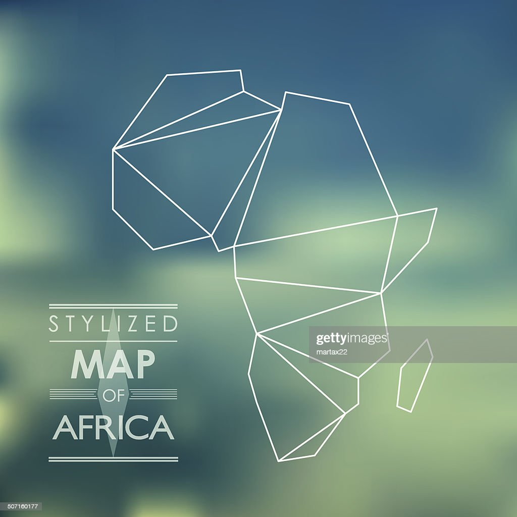 stylized map of Africa