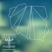 stylized map of Poland