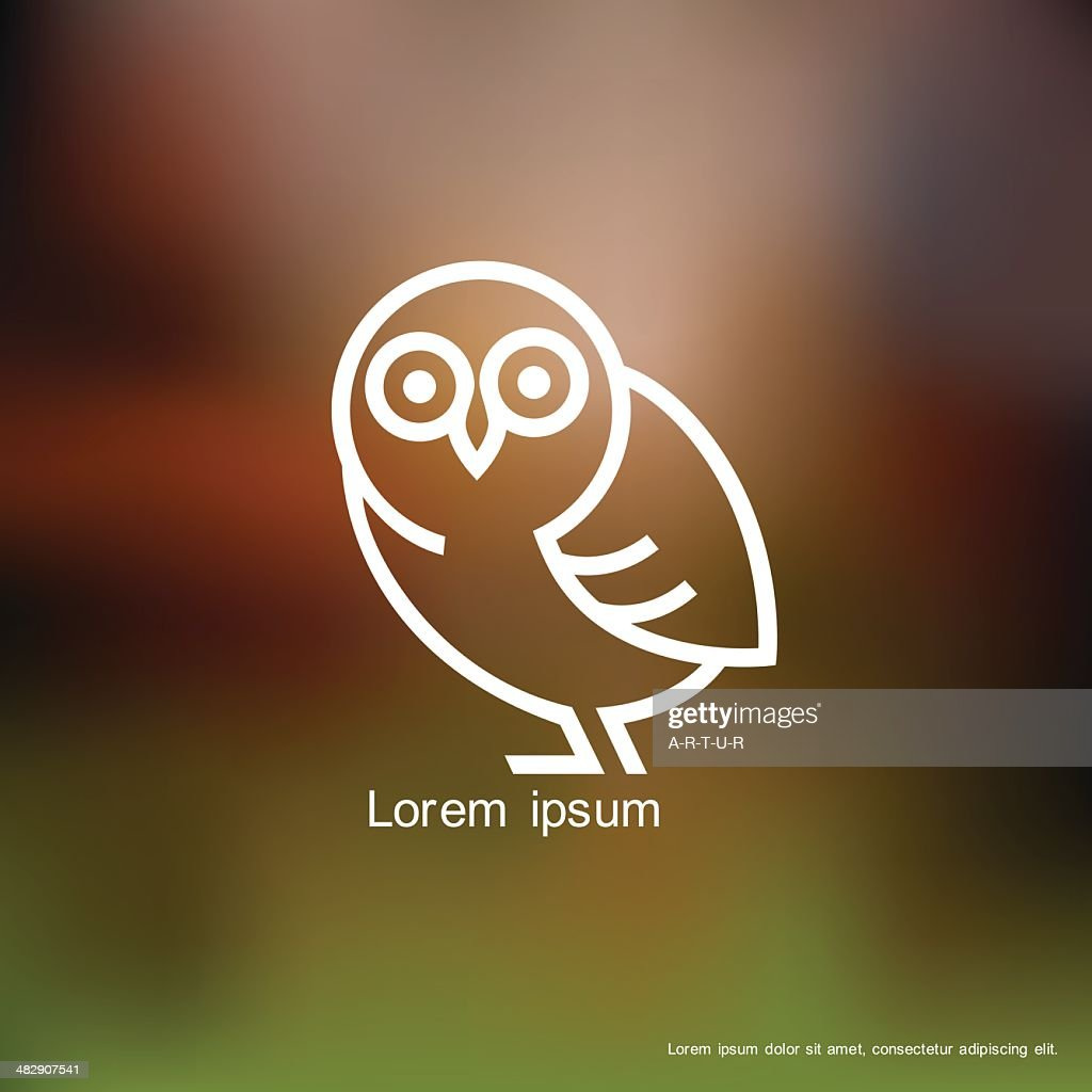Stylized owl icon