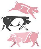 Stylized Pigs