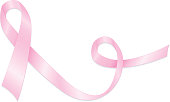 Stylized Pink Breast Cancer Awareness Ribbon